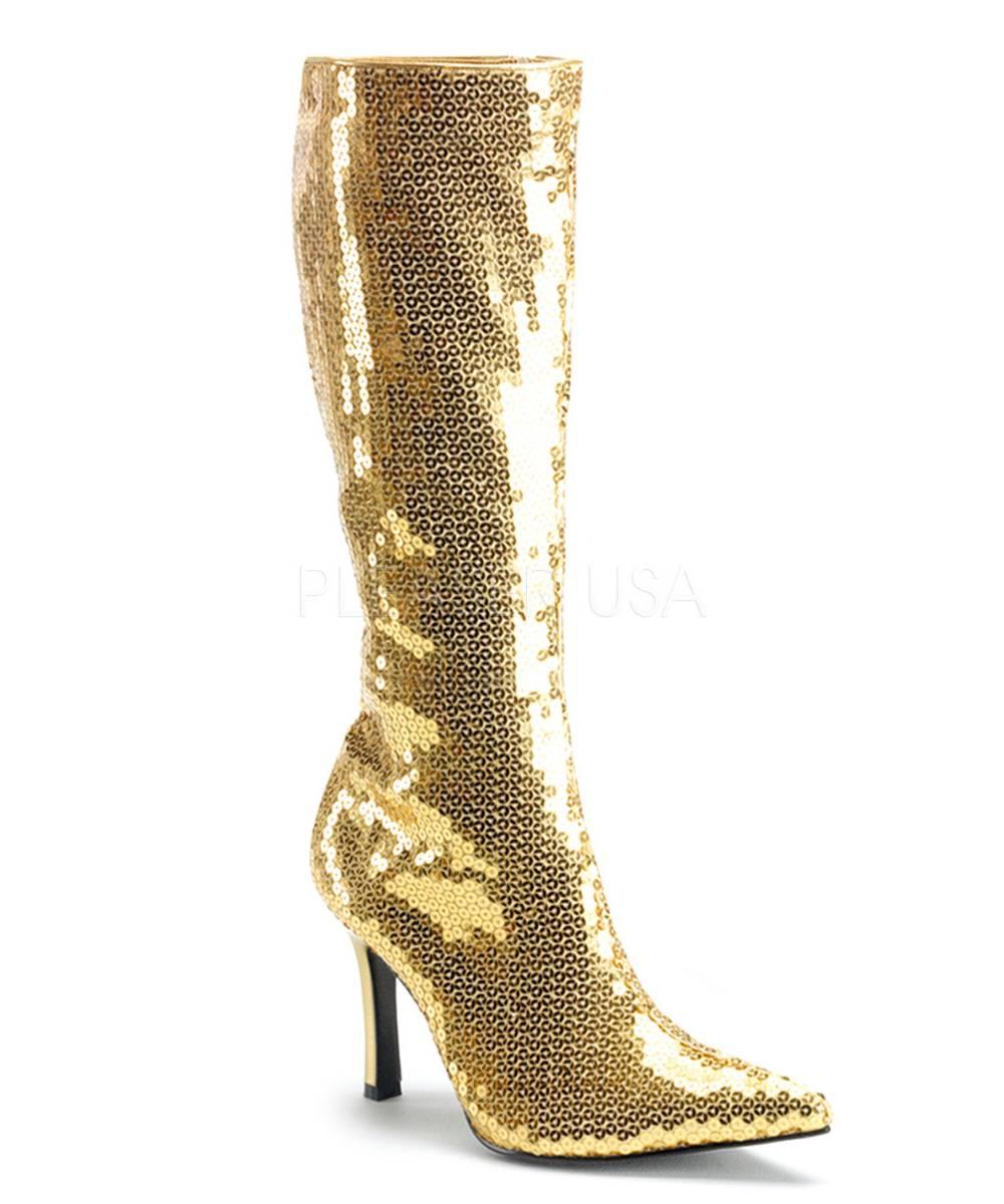 Bottes-dorées-pailletées-glitter