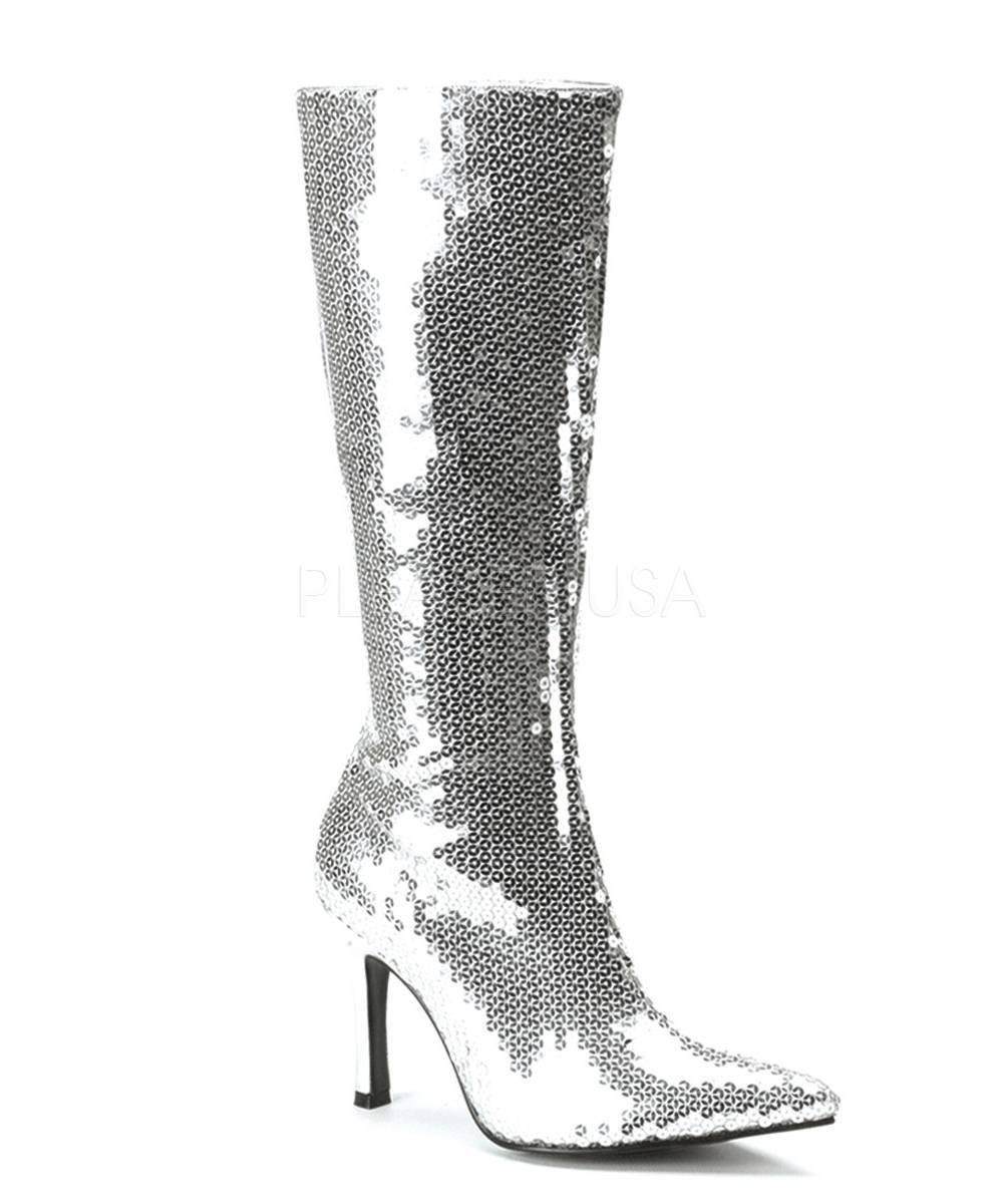 Bottes-taille-42-argentées-pailletées