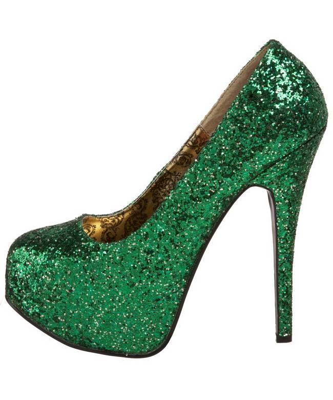 Chaussures-pailletées-vertes-2