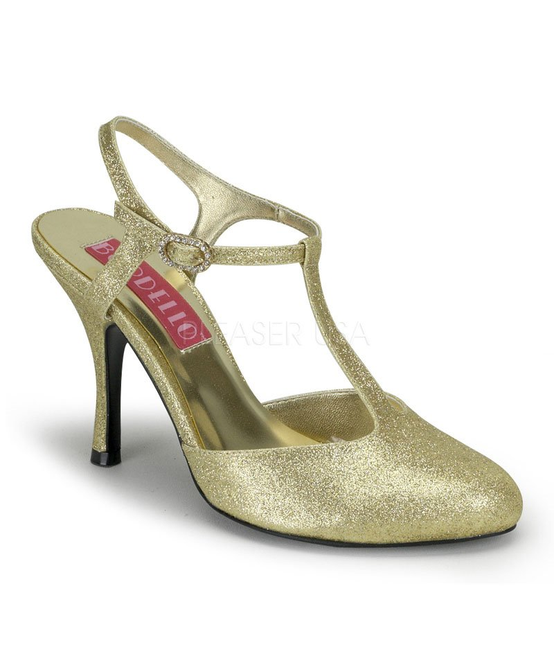 Chaussures-Cabaret-or