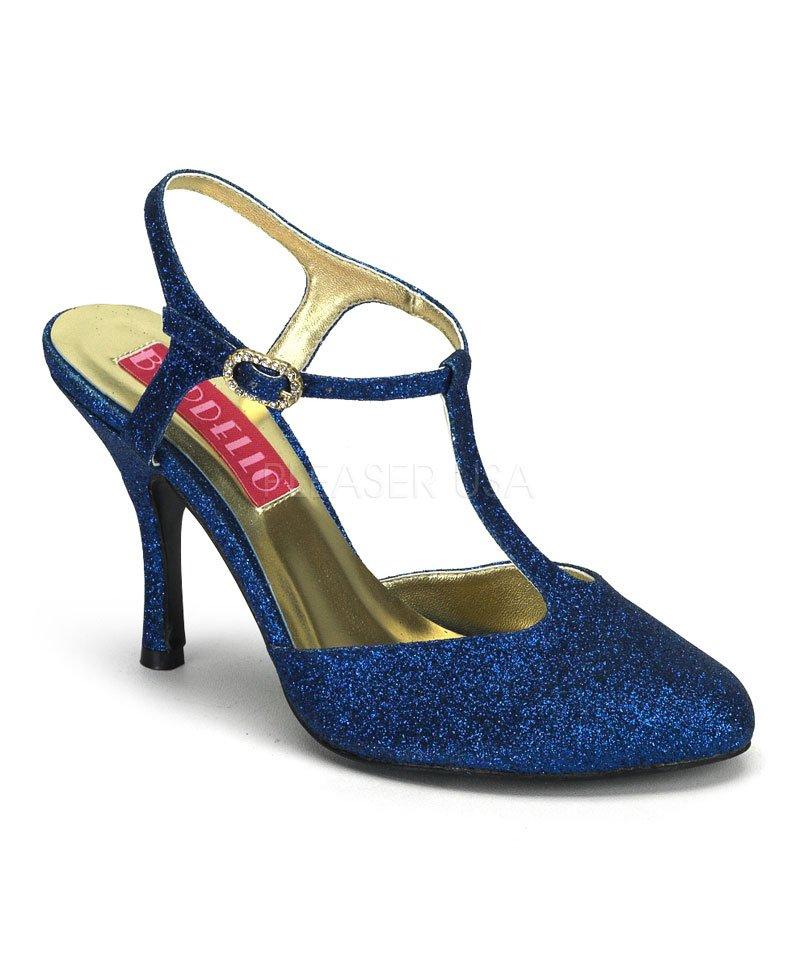 Chaussures-pailletées-bleu