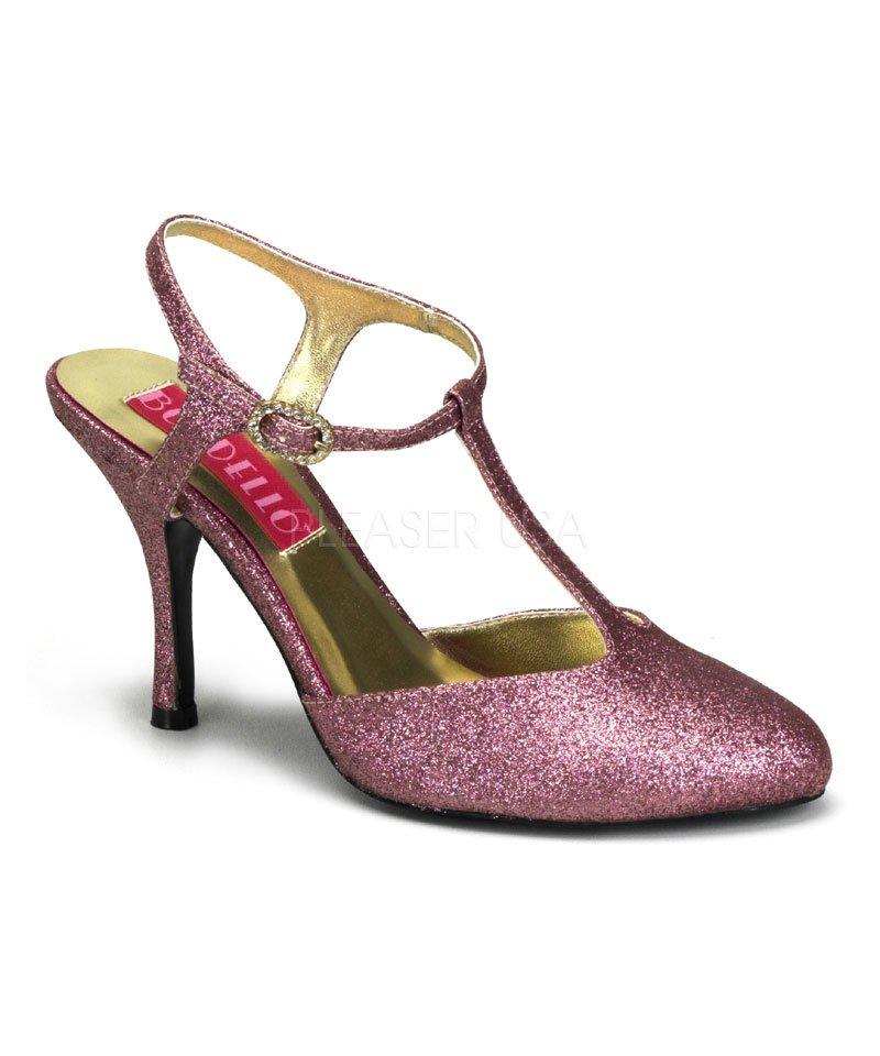Chaussures-pailletées-rose