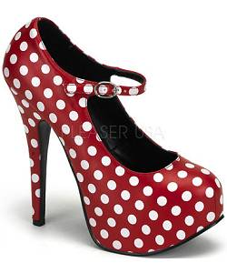 Chaussures-Pin-up-pois-rouge&blanc