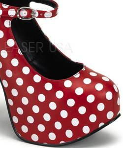 Chaussures-Pin-up-pois-rouge&blanc-2