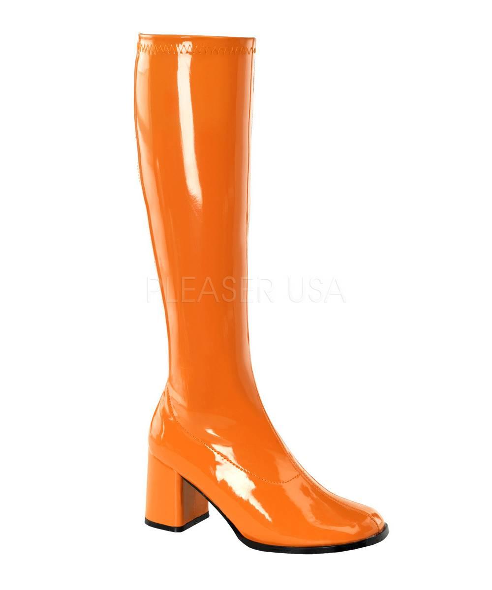 Bottes-oranges-femme-disco