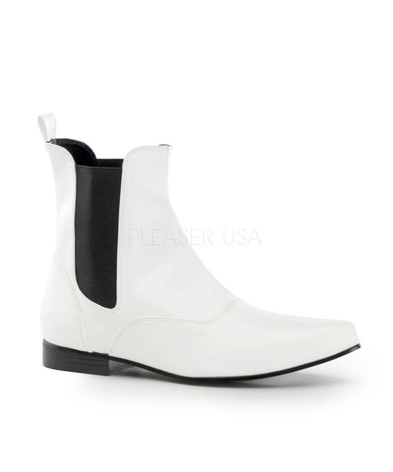 Boots-Disco-Blanches-homme