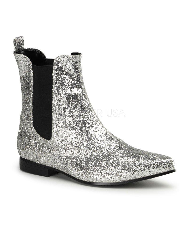 Boots-Disco-argentées