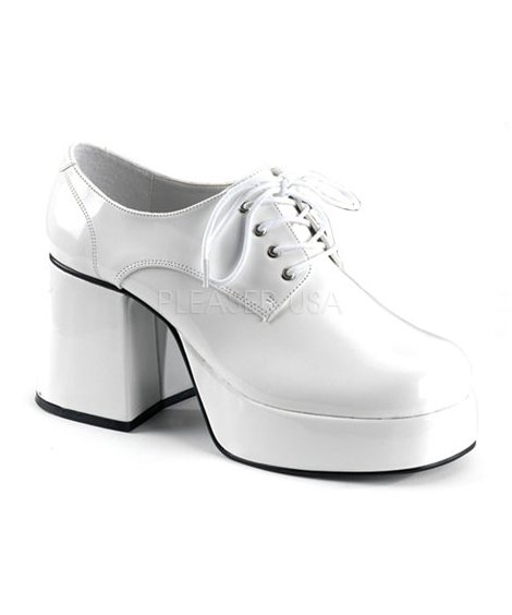 Chaussures-Disco-Homme-blanches