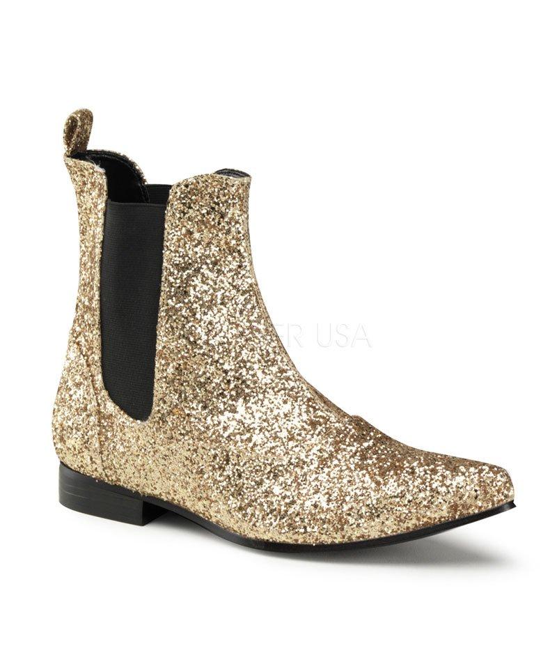 Boots-Disco-dorées