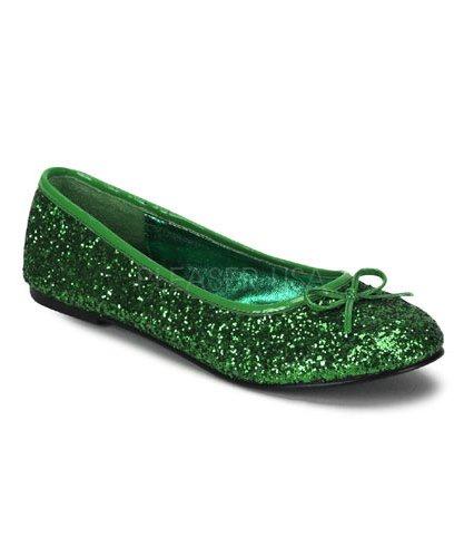 Ballerines-adulte-vert