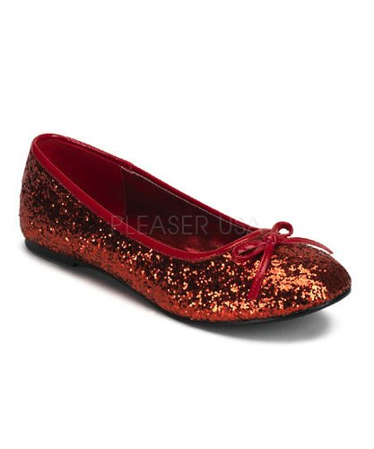 Ballerines-adulte-rouge