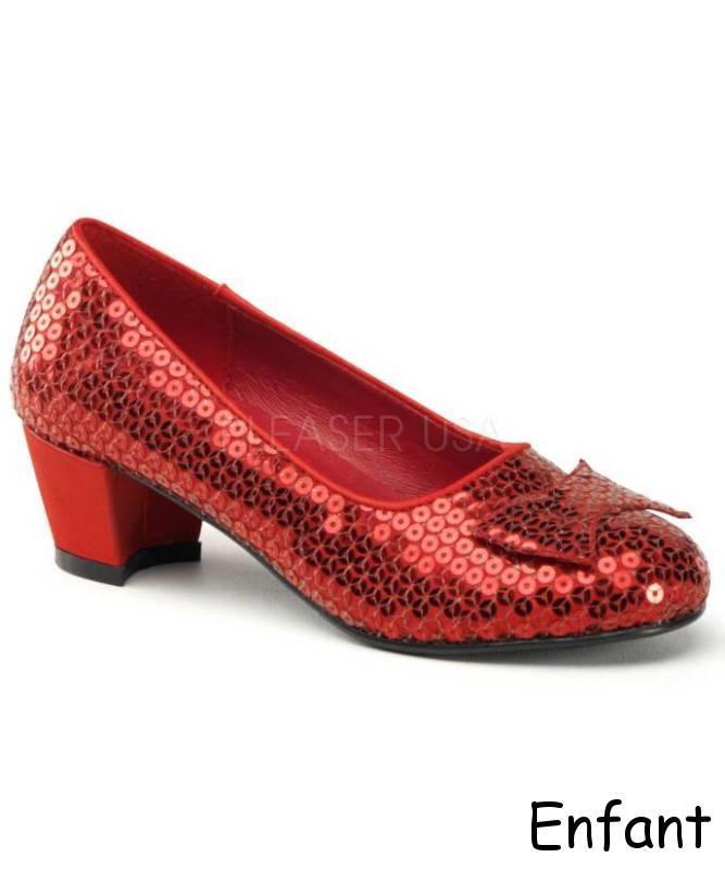 Chaussures-rouges-paillettes-Fille