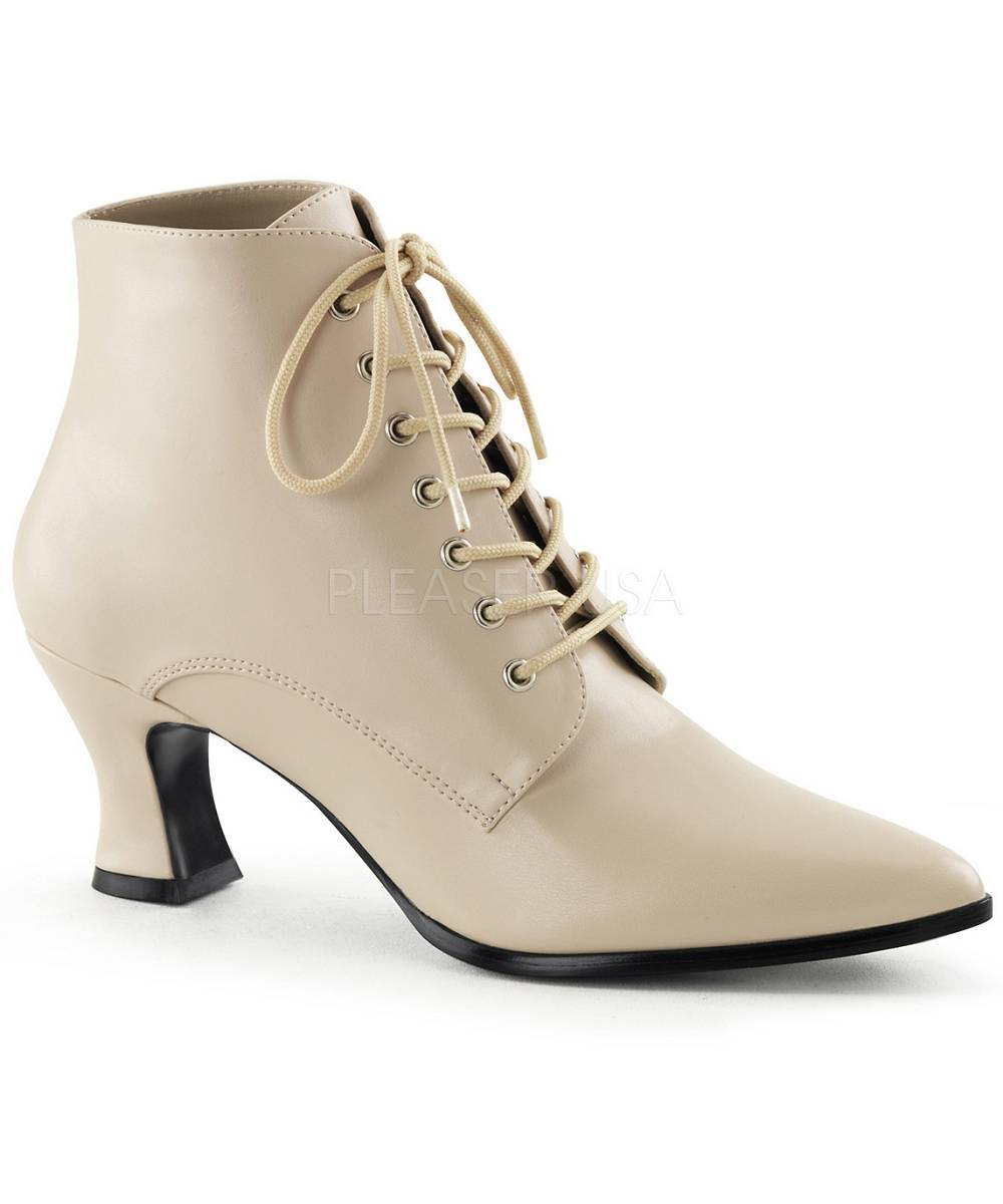 bottines femme crème-as0164
