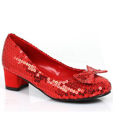 Chaussures-fillette-rouge