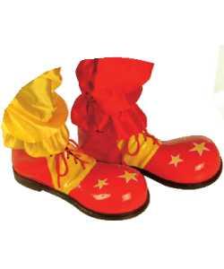 Chaussures-de-clown-Enfant-Etoiles-Jaune