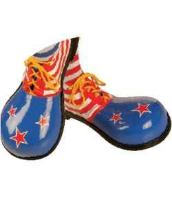 Chaussures-de-clown-Enfant-Etoiles-Rouge