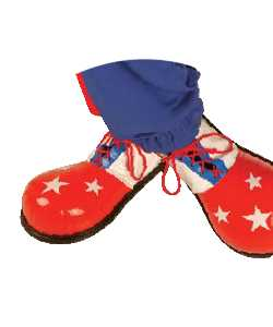 Chaussures-de-clown-Enfant-Etoiles-blanches