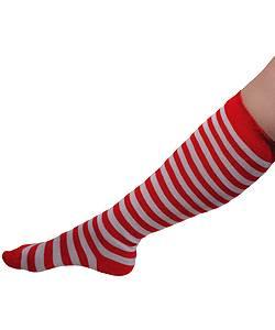 Chaussettes-clown-rouge