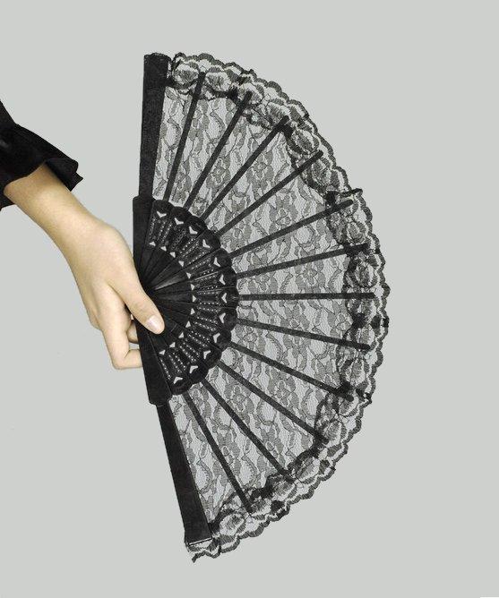 eventail dentelle noire ax0106. Black Bedroom Furniture Sets. Home Design Ideas
