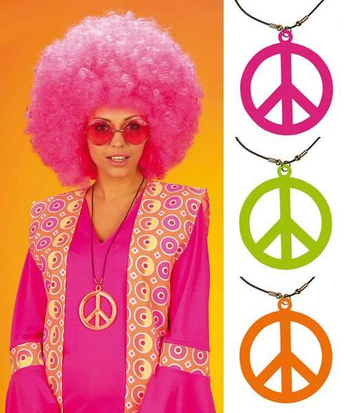 Pendentif-Hippie-Peace-Fluo