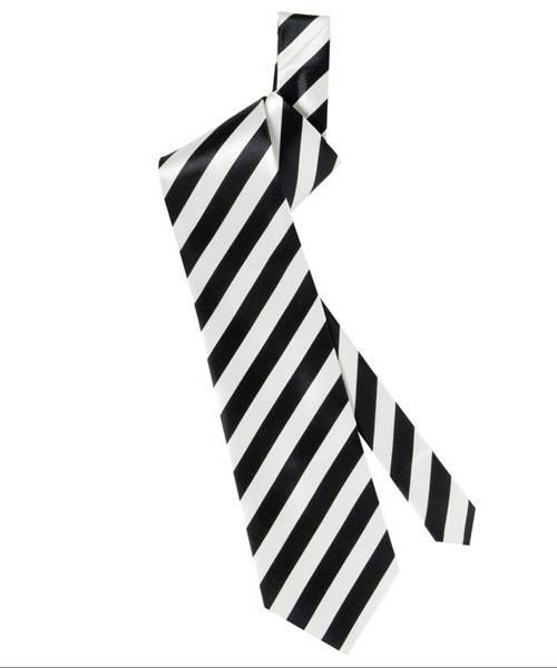 Cravate-rayée-satin-noir-blanc