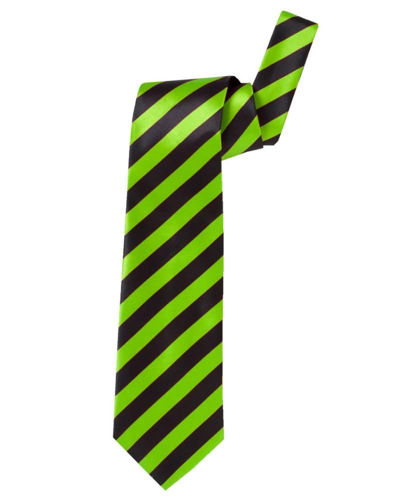 Cravate-rayée-en-satin