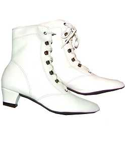 Bottines-Majorette-blanches