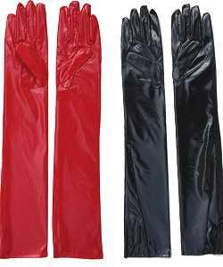 Gants-simili-cuir-rouges