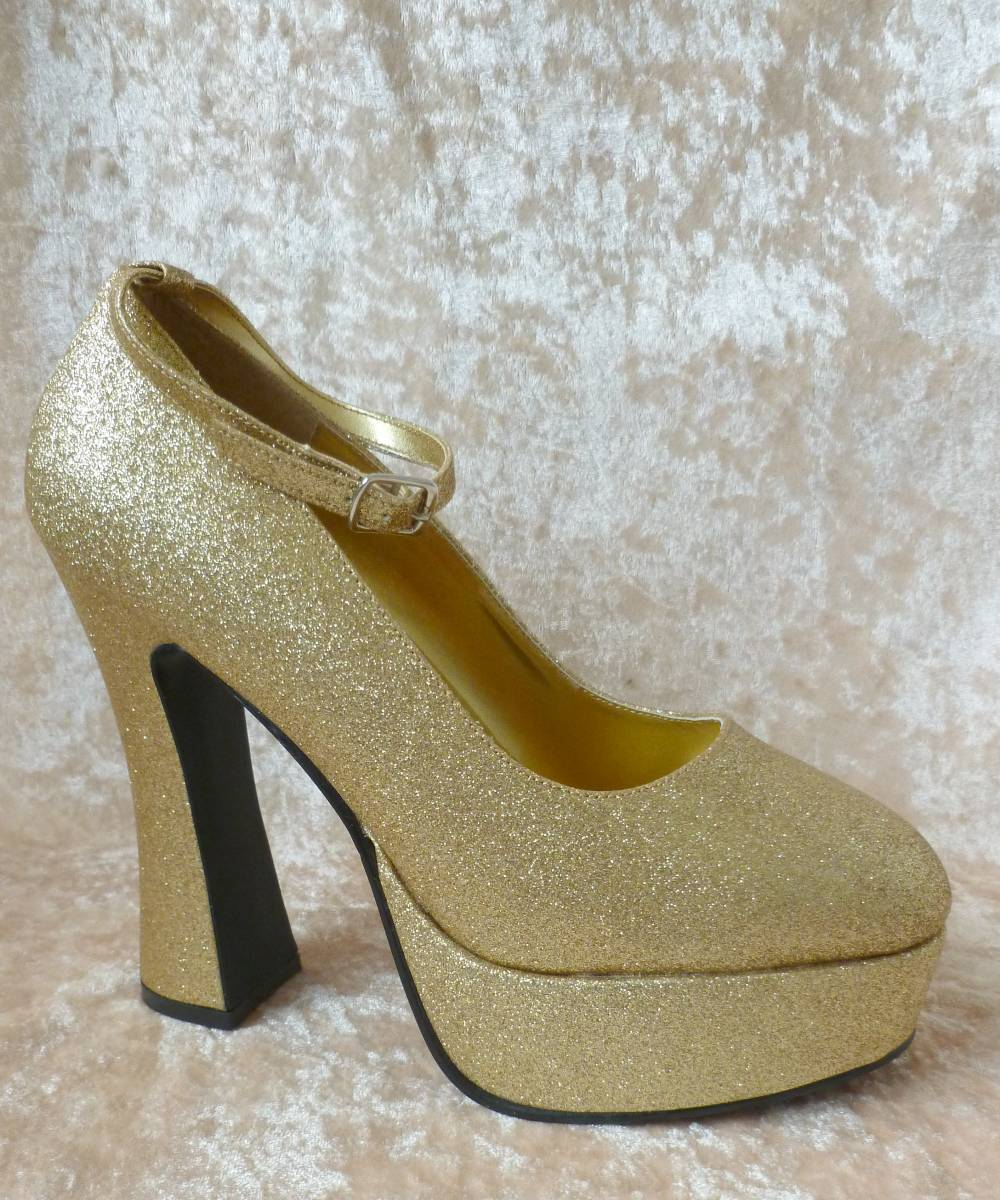 Chaussures-glitter-or