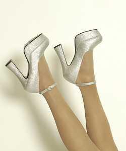 Chaussures-glitter-argent