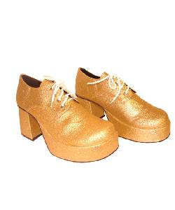 Chaussures-Disco-or