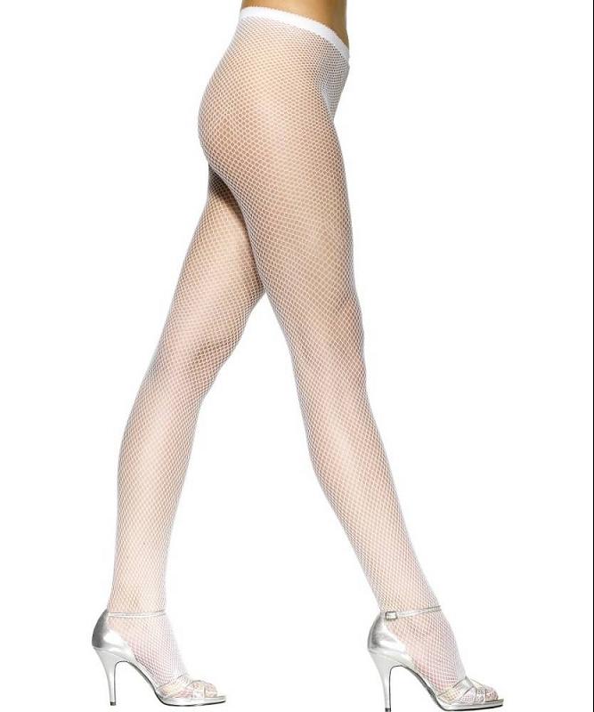 Collant-résille-blanc