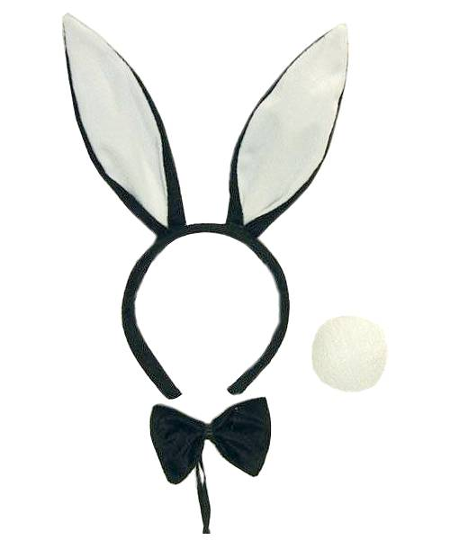 Oreilles-de-lapin-Set-Bunny-noir