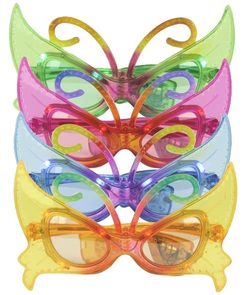 Lunettes-LED-papillon