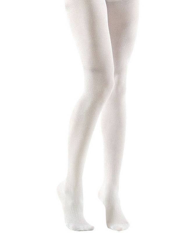 Collant blanc paillettes