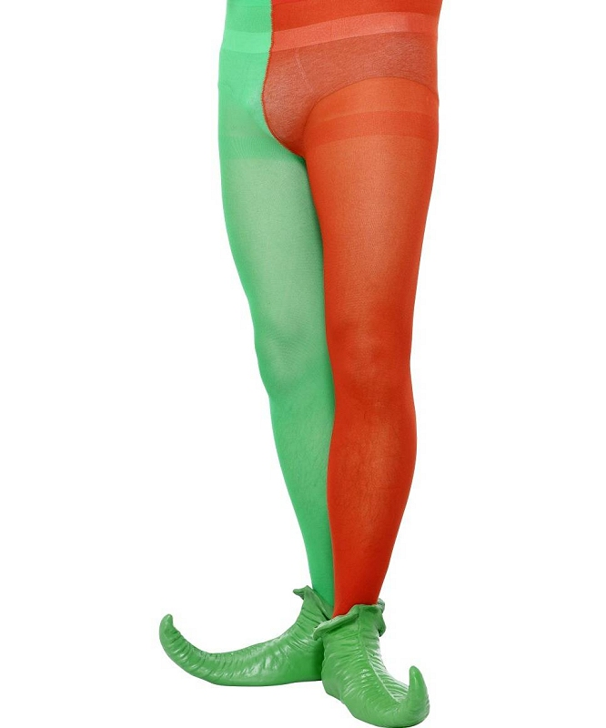 Collant-de-Lutin-Homme-rouge-et-vert