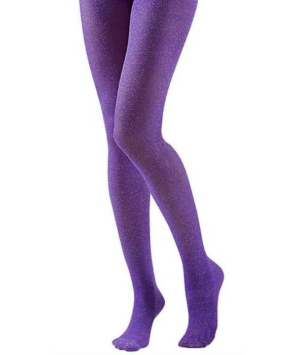 Collant-pailleté-violet