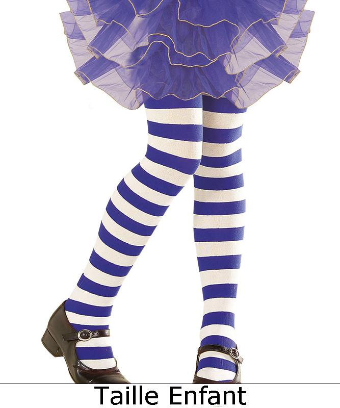 Collant-ray�-bleu-blanc-enfant