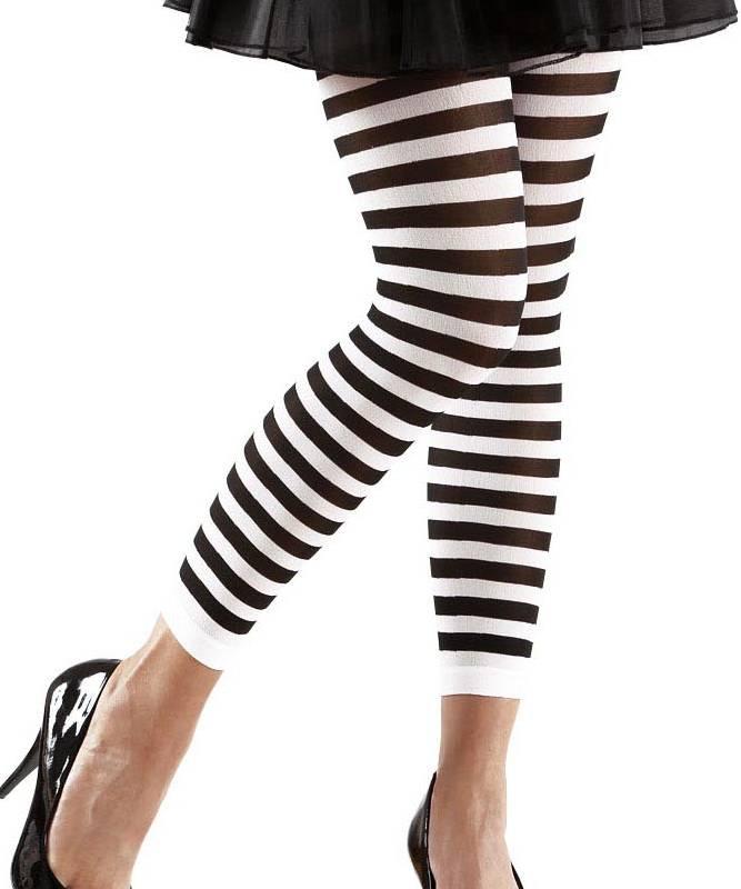 Leggings-rayé-noir-et-blanc