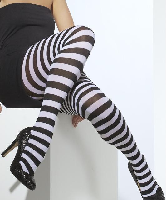 Collant-rayé-noir-et-blanc