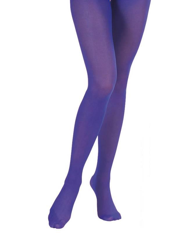 Collant-bleu-femme
