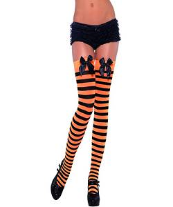 Bas-rayés-orange-et-noir