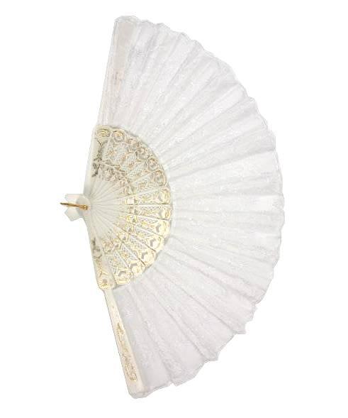 Eventail-blanc-brodé
