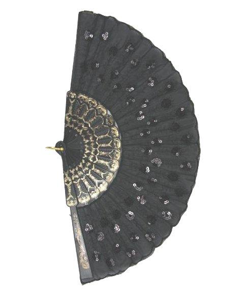 Eventail-paillettes-noir