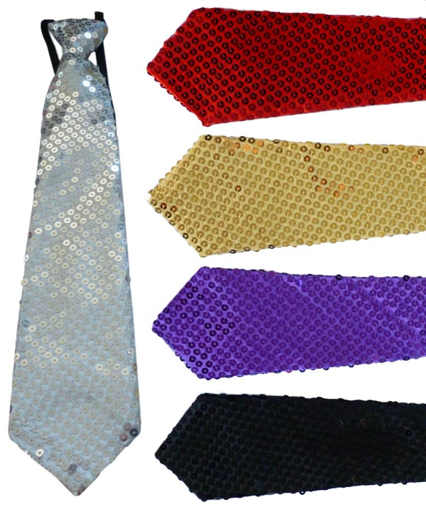 Cravate-pailletée