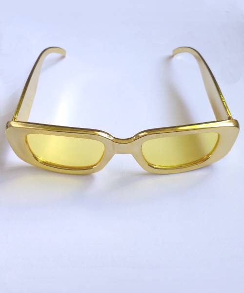 Lunettes-disco-or