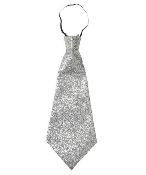 Cravate-pailletée-Argent