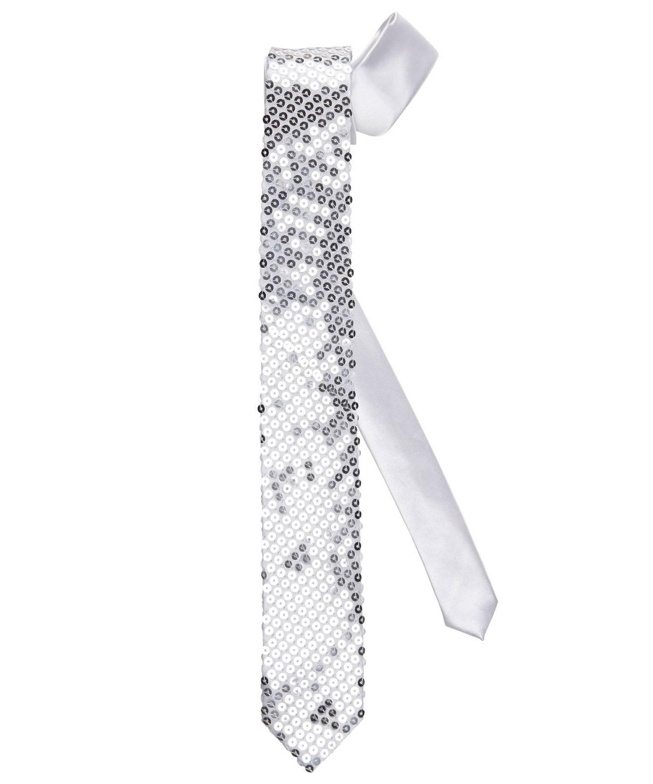 Cravate-paillettes-argent