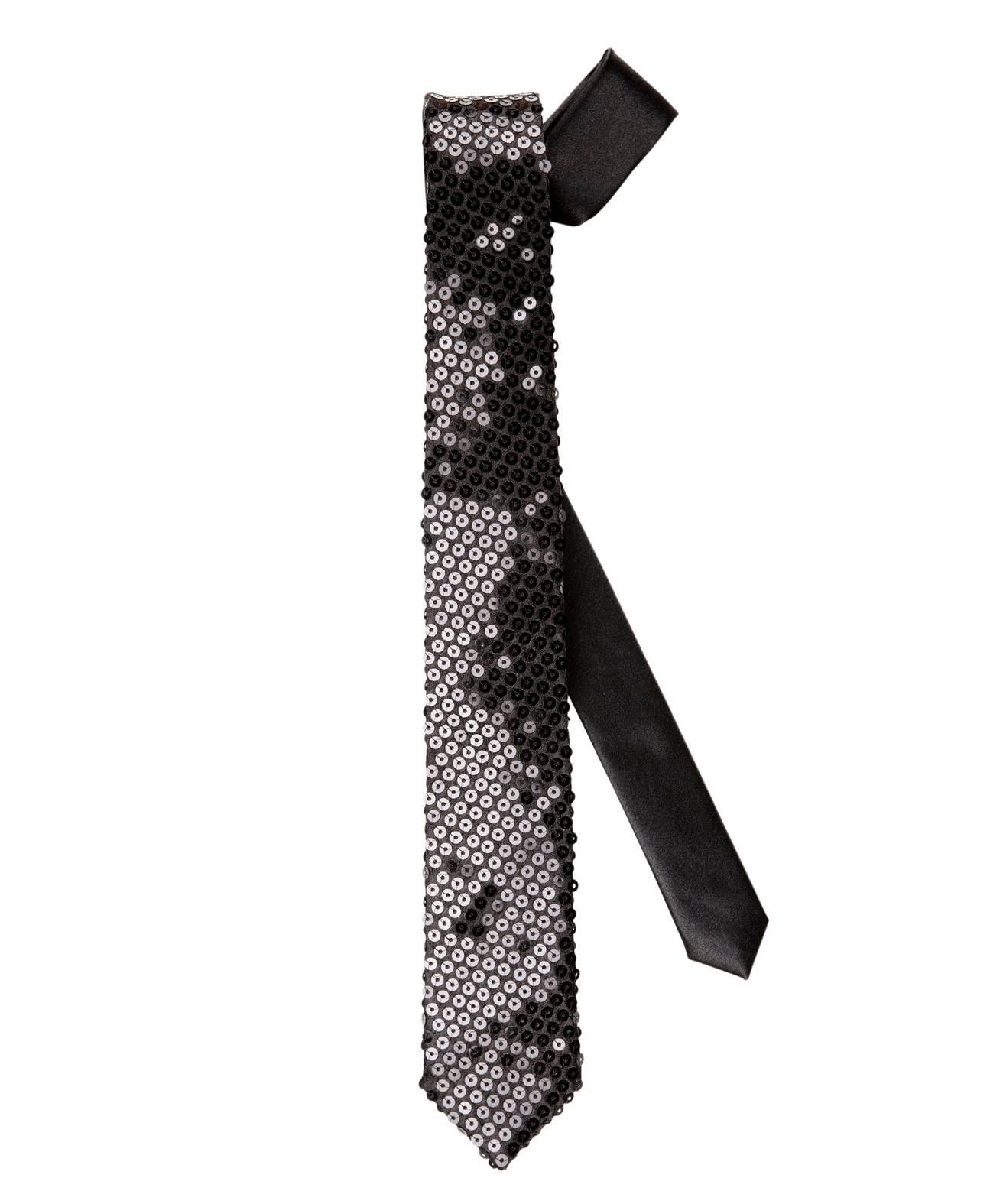 Cravate-paillettes-Noire