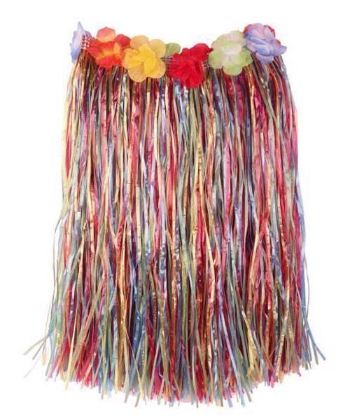 Jupe-hawaï-50cm-Multicolore